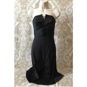 White House Black Market Black Dress Strapless 0